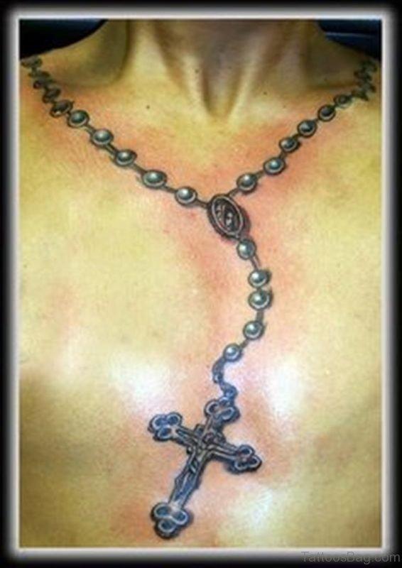 Rosary Tattoo Design
