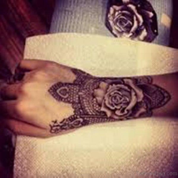 Rose And Mandala Tattoo