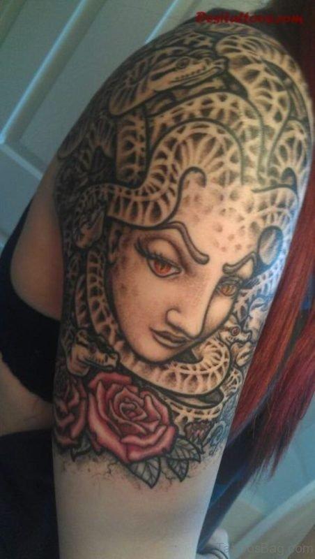 Rose Medusa Tattoo