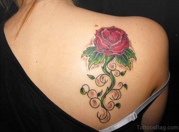Rose Tattoo Design On Back