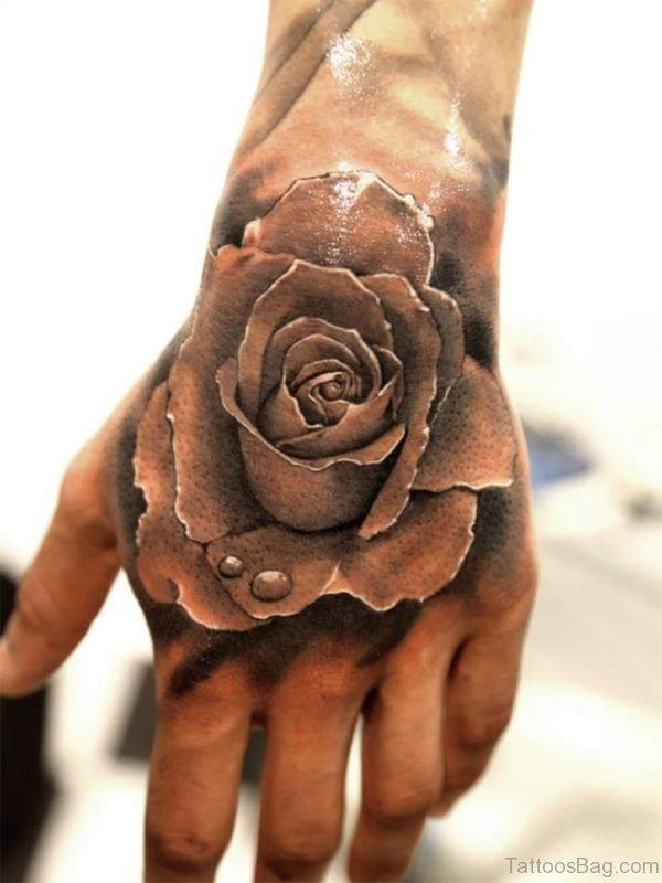 Rose Tattoo Design On Hand