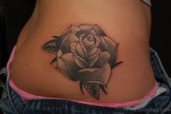 Rose Tattoo On Waist