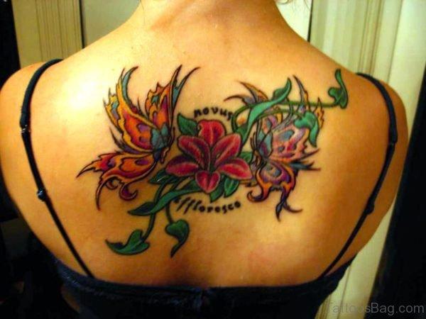 Rose Vine Tattoo On Back