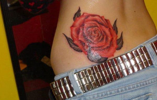 Rose Waist Tattoo