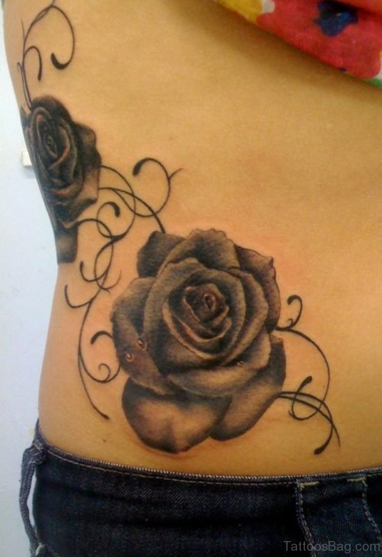 Rose tattoo designs on waist