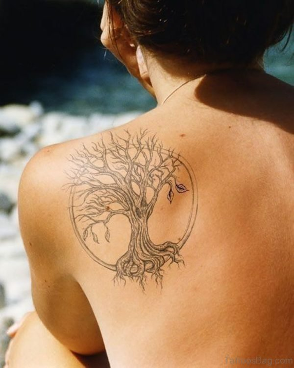 Round Tree Tattoo