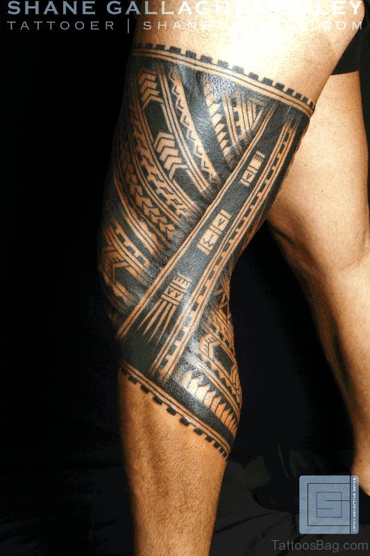 53 cool band tattoos on leg. Black Bedroom Furniture Sets. Home Design Ideas