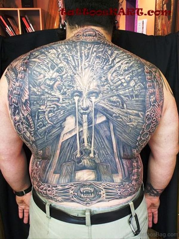 Satan Tattoo On Back