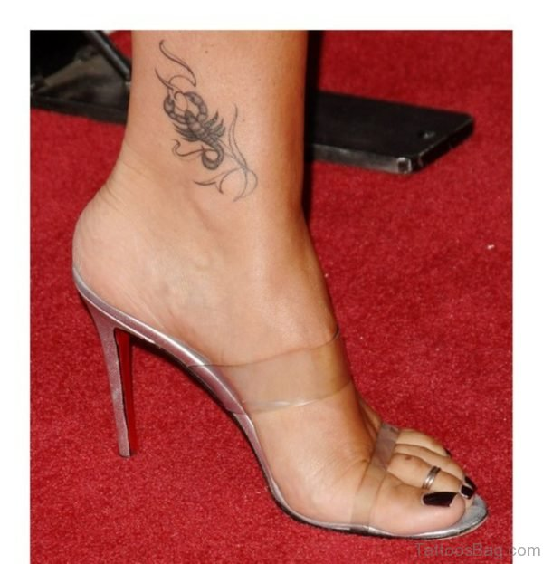 Scorpio Tattoo On Girl Left Ankle