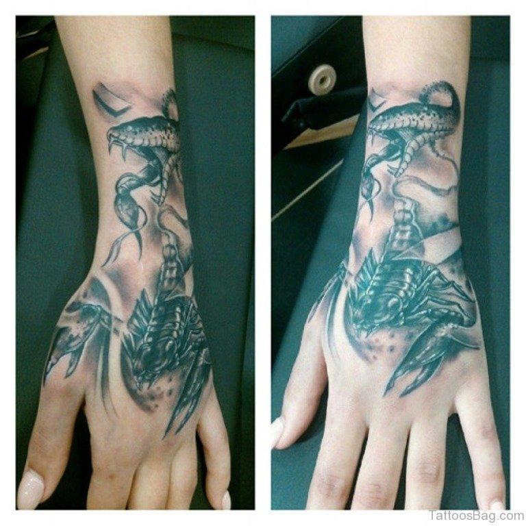 62e09b67a 30 Fancy Scorpion Tattoos For Hand