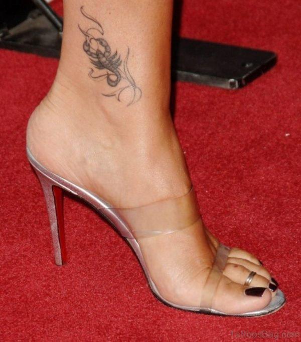 Scorpion Tattoo On Ankle
