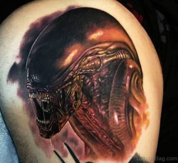 Scary Alien Tattoo