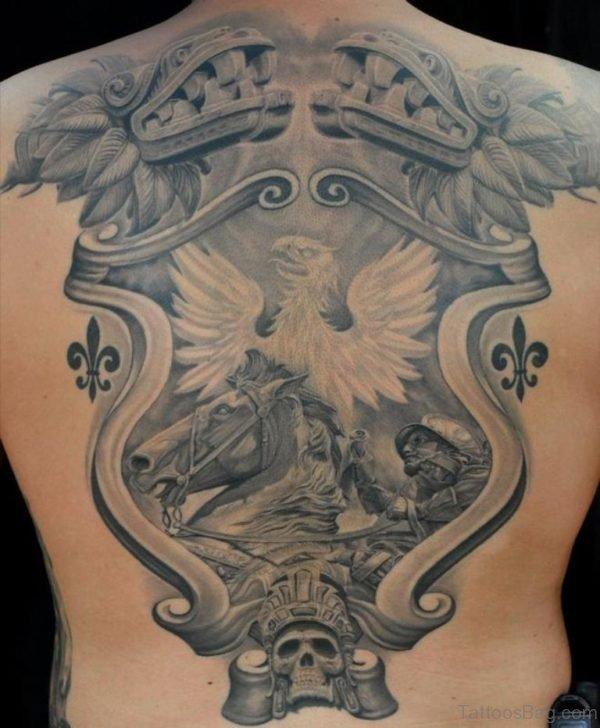 Shield Healed Tattoo