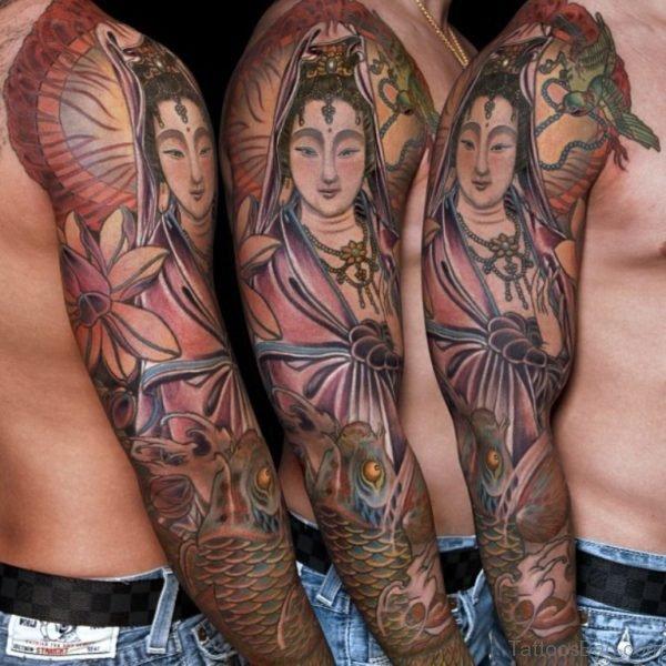 Shiv Tattoo Design On Full Sleeve