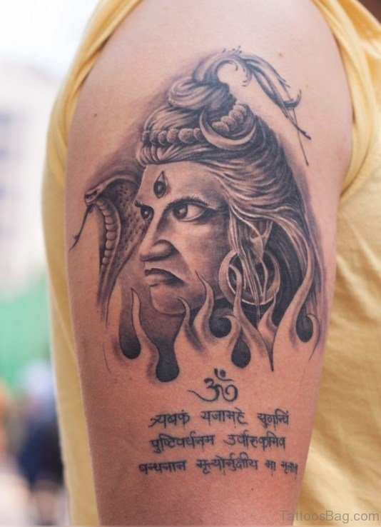 Shiv Tattoo Design On Shoulder