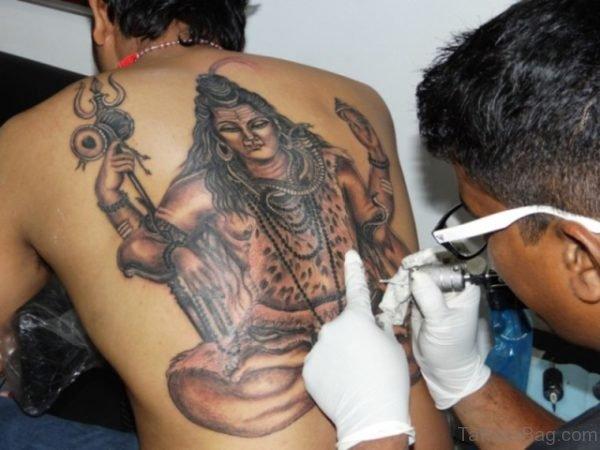 Shiv Tattoo On Back