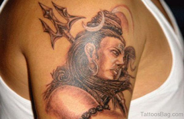 Shiva Tattoo Design For Shoulder