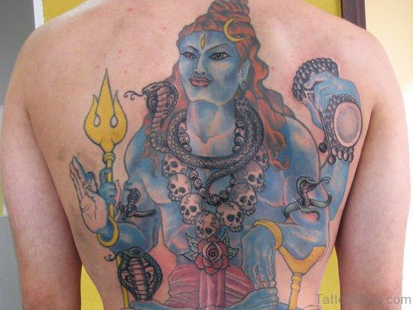 Shiva Tattoo On Back Body