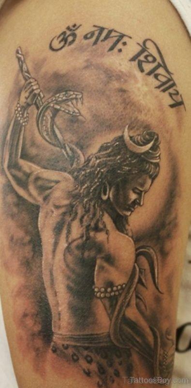 Shiva Tattoo design On Shoulder