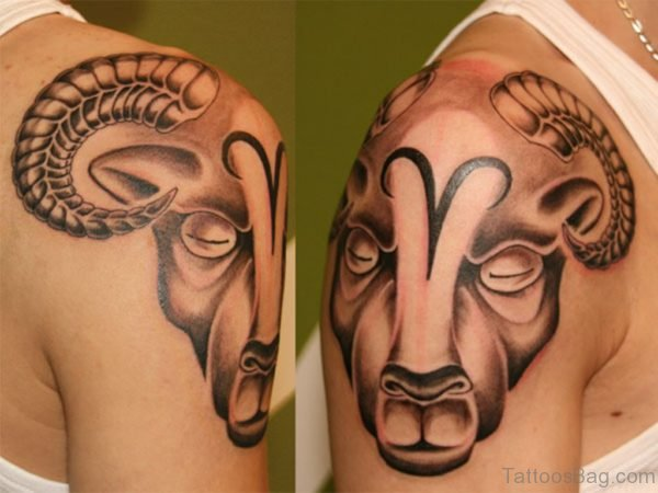 Shoulder Aries Tattoo