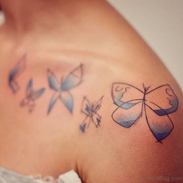 Shoulder Joint Butterfly Tattoo