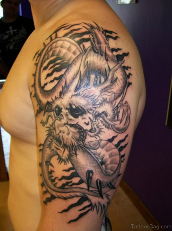 Shoulder Joint Dragon Tattoo