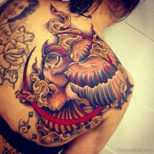 Shoulder Joint Owl Tattoo