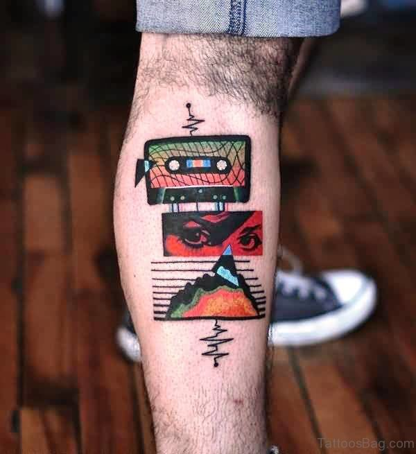 Simple And Nice Calf Tattoo