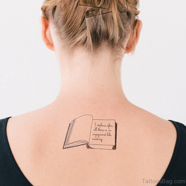 Simple Book Tattoo Design