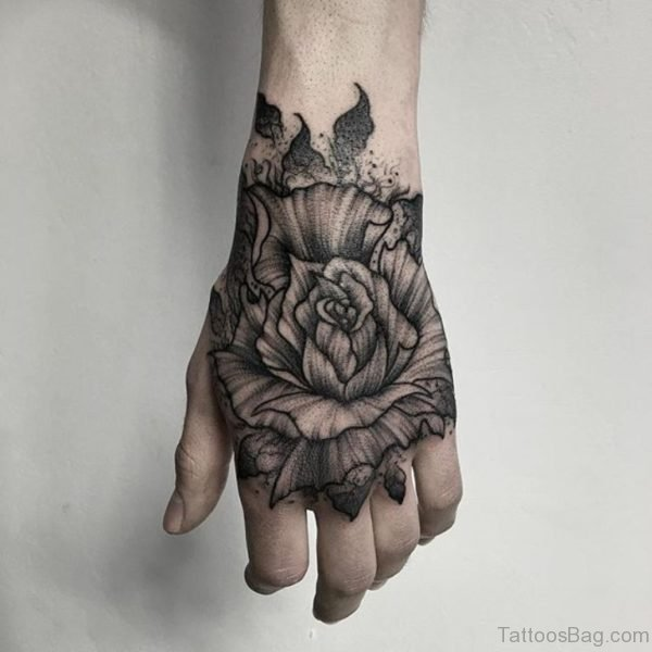 61 good looking flowers on hand for Flower tattoos on hand