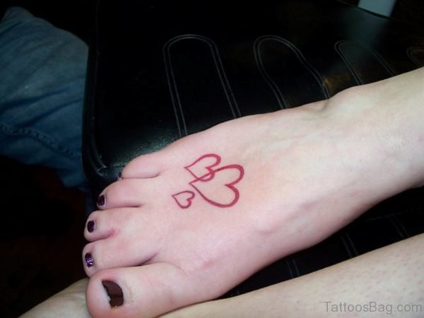 Simple Red Heart Tattoo