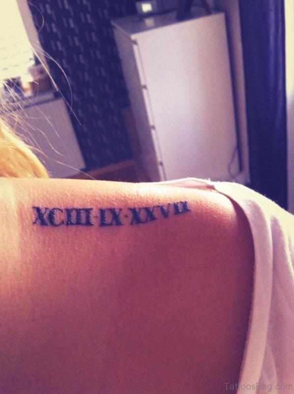 Simple Roman Numeral Tattoo