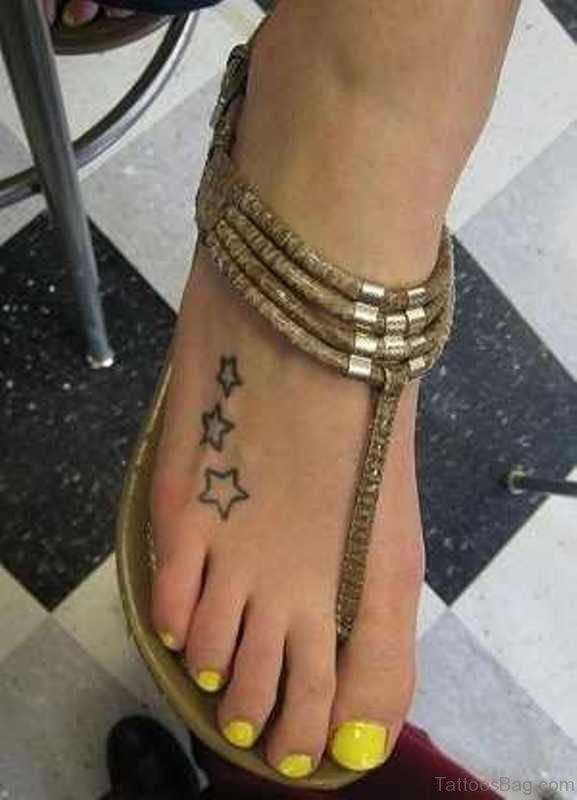 Simple Three Stars Tattoo