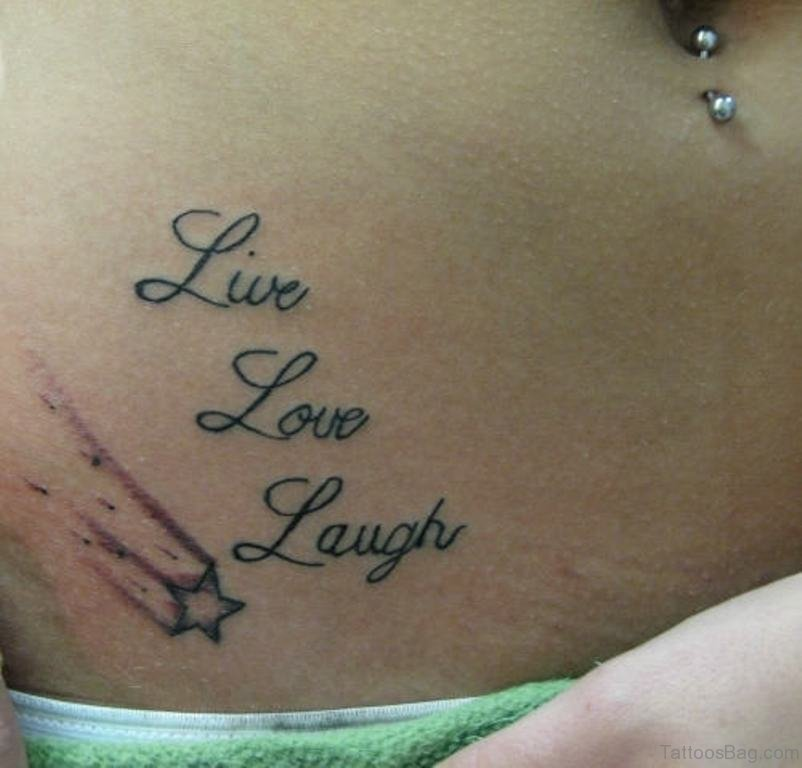 570bea41e 40 Beautiful Words Tattoos For Waist