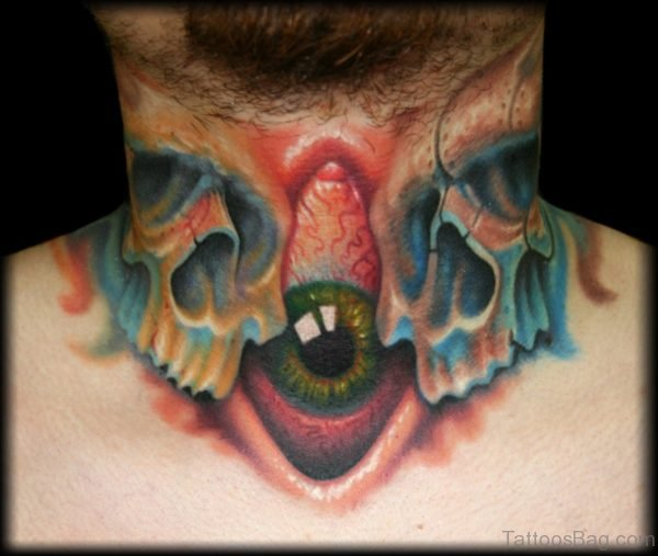 Skull And Eye Tattoo