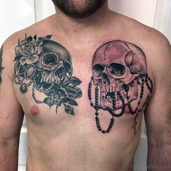 Skull And Rosary Tattoo