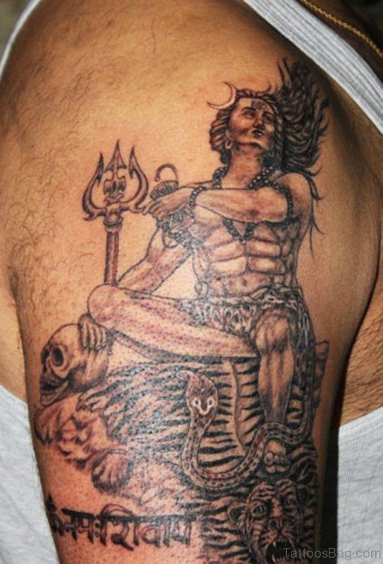 Skull And Shiva Tattoo
