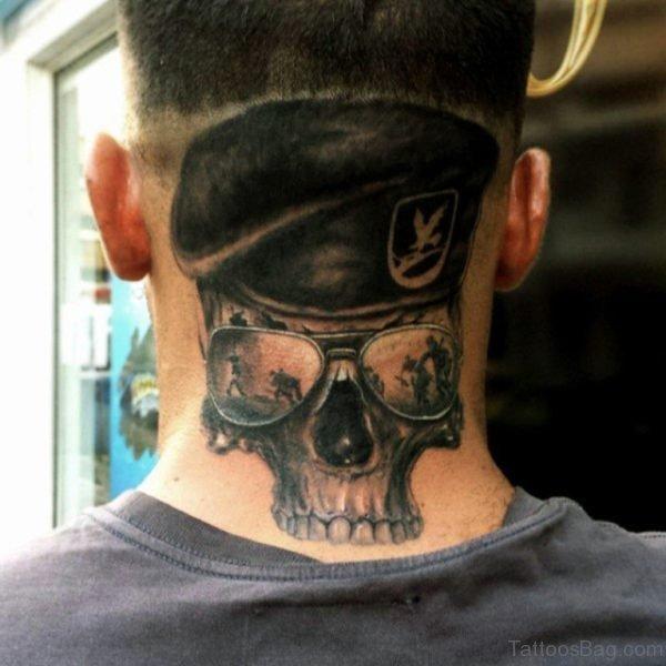 Skull Tattoo Design Made On Men Nap