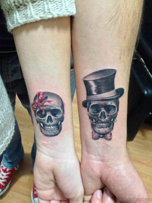 Skull Tattoo Design On Wrist