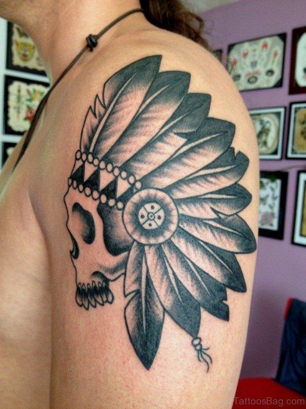 Skull Tattoo On Shoulder 1
