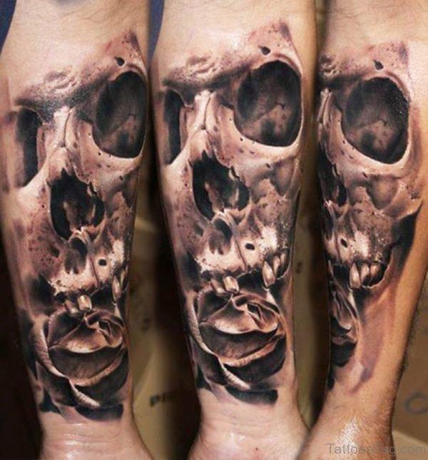 Skull Tattoo On Wrist