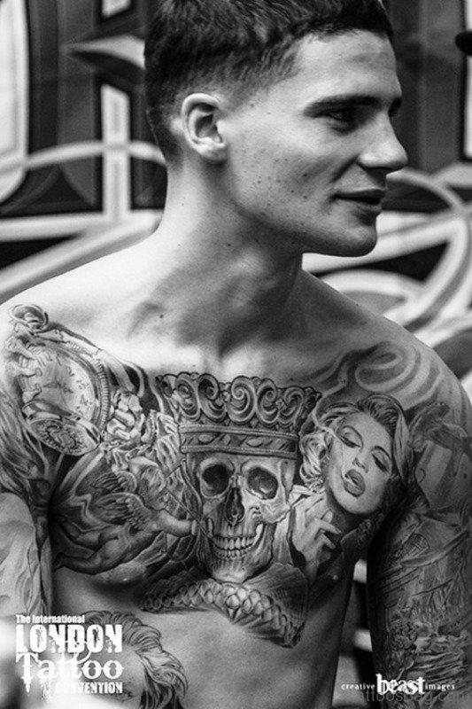 84 Marvelous All Black Tattoos On Chest