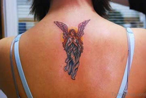 Small Angel Tattoo