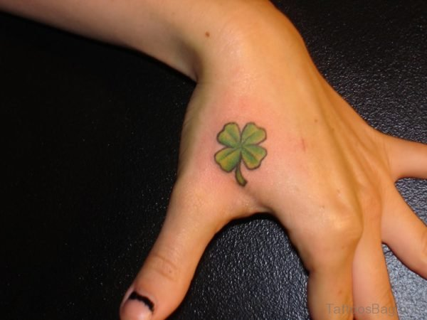 Small Clover Tattoo On Hand