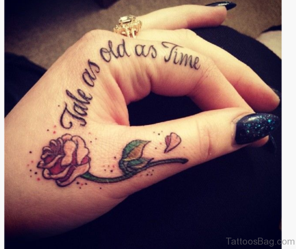 Small Flower Tattoo On Hand