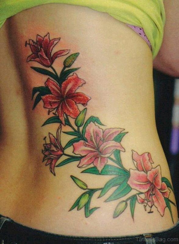 Small Flower Tattoo On Waist