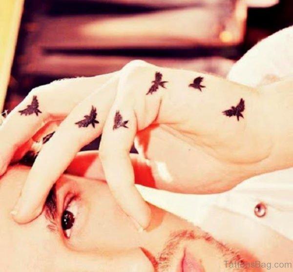 Small Flying Birds Tattoo