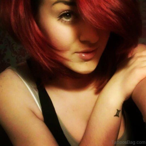 Small Gemini Tattoo On Wrist