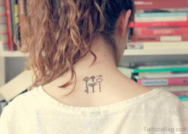 Small Key Tattoos On Back