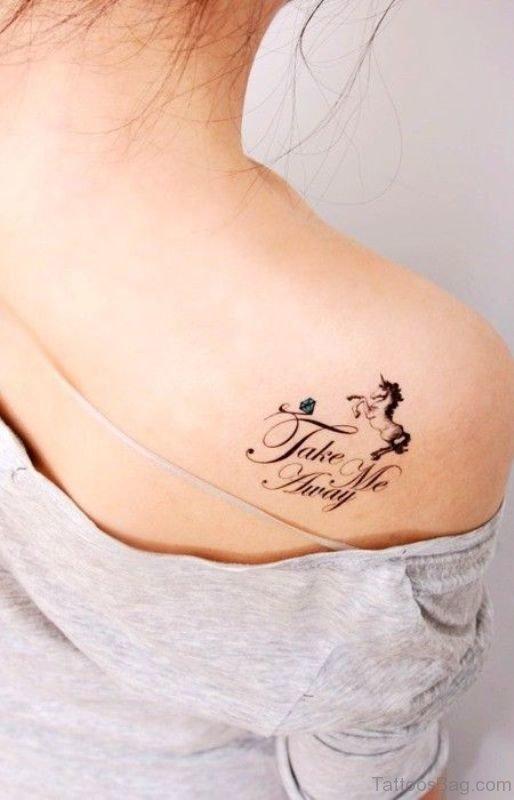 Small Unicorn Tattoo On Back